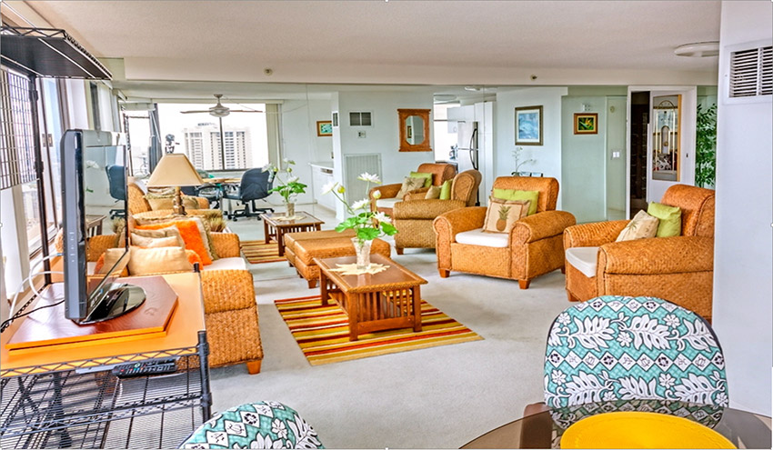 ハワイアンモナーク  ペントハウス401号室