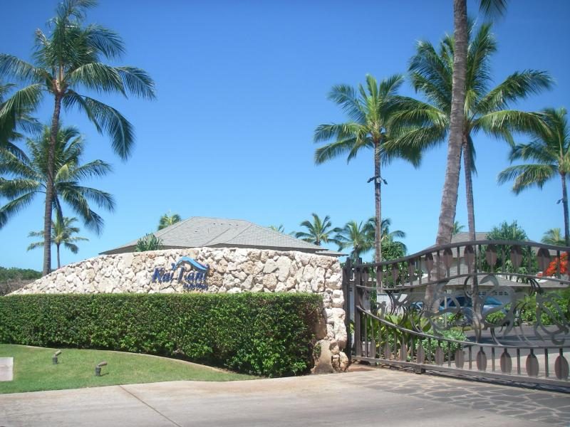 Entrance to the Kai Lani at Ko Olina is located right before the Ko Olina main entrance guard shack to the right.