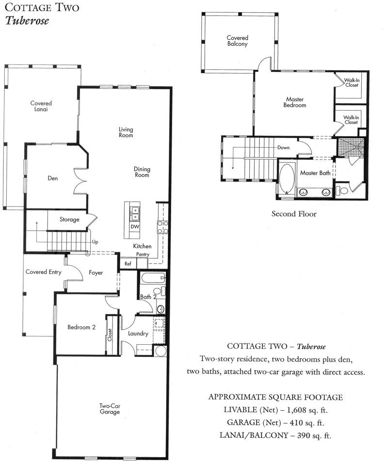 """Tuberose"" Cottage plan - 2nd version"