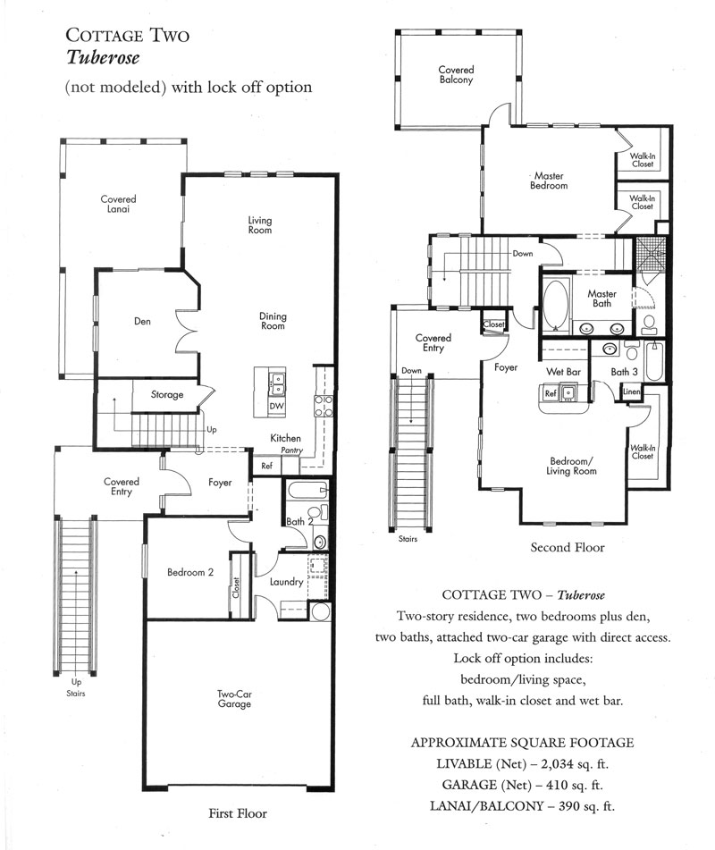 """Tuberose"" Cottage plan - 1st version"