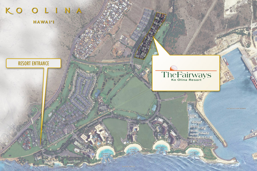 The Fairways at Ko Olina satellite map.