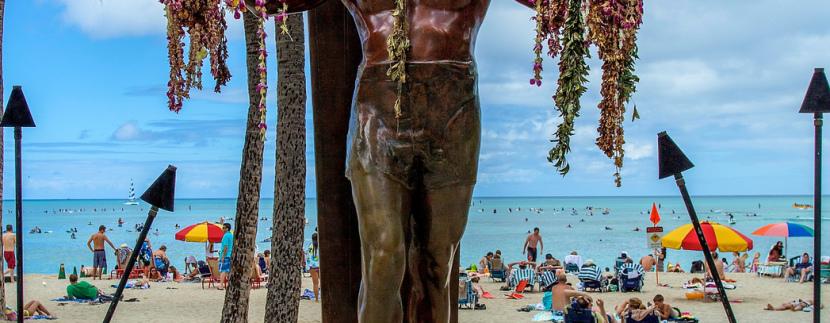Duke Statue – Live Camera View in Waikiki   Hawaii Ocean