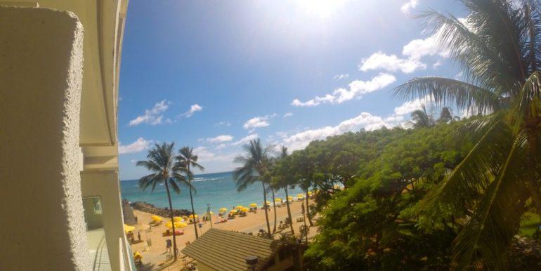 Waikiki Shore 305 lanai view